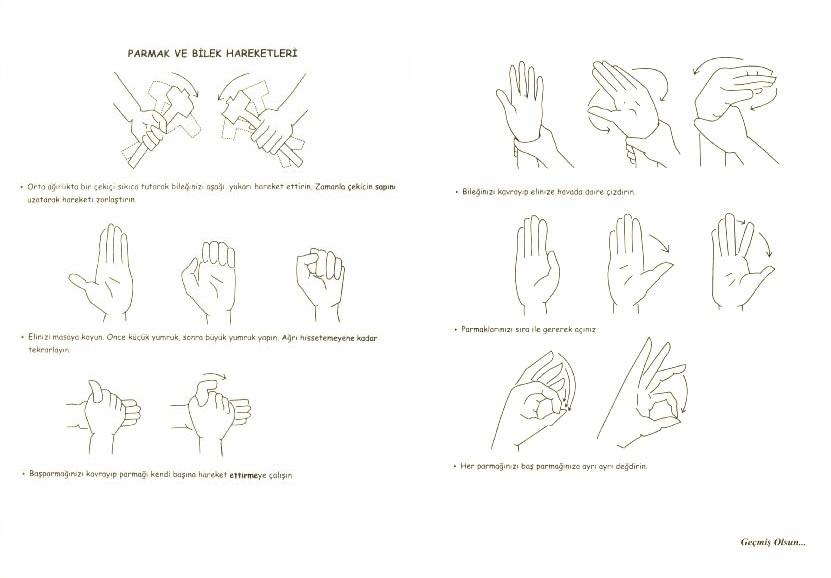 Parmak ve Bilek Egzersizleri